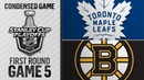04/19/19 First Round, Gm5: Maple Leafs @ Bruins Game5