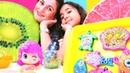 Play Doh videosu Deniz kızı için su altında parti hazırlıyoruz