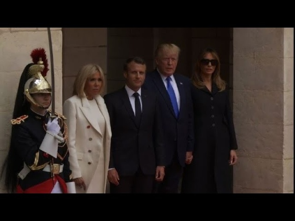 D-Day Trump and Macron arrive at Caen prefecture | AFP