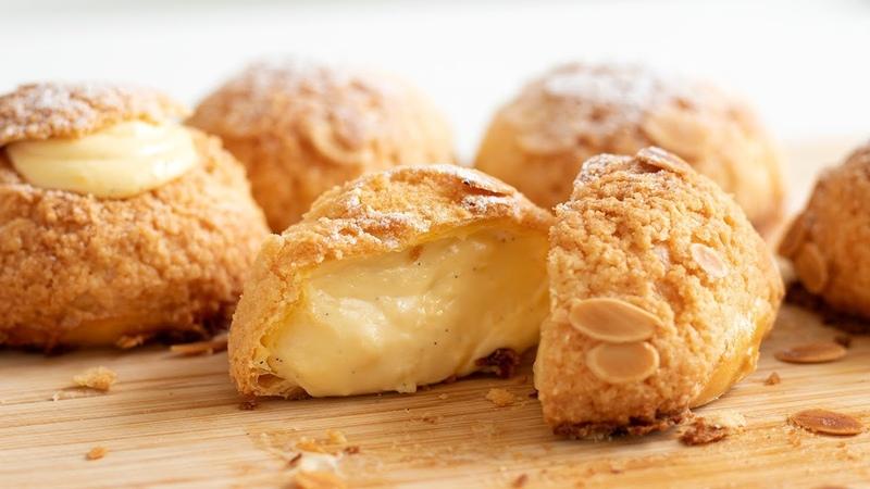 クッキーシューの作り方 Choux au Craquelin:Cream Puffs|HidaMari Cooking