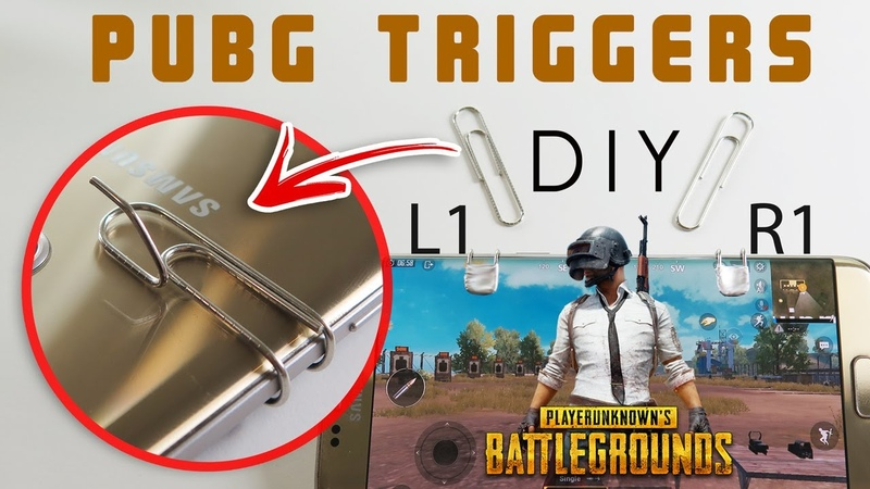 How to make L1 R1 firing triggers - buttons for pubg mobile and fortnite طريقة عمل ازرار ببجي