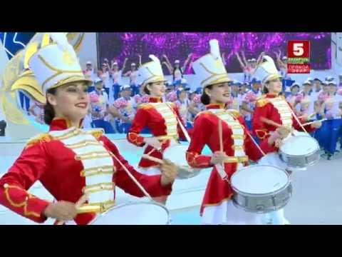 Церемония встречи Пламя мира в Минске. Открытие от Tour de Danse