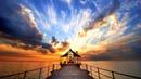 Картинка закат. Закат на причале. Foto zonsondergang. Zonsondergang op de pier