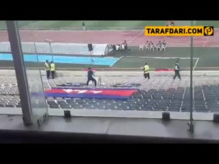 This cambodian fan has traveled around 6,000 kilometers to support his country.  cambod