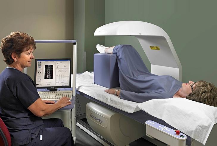 Процедура сканирования кости