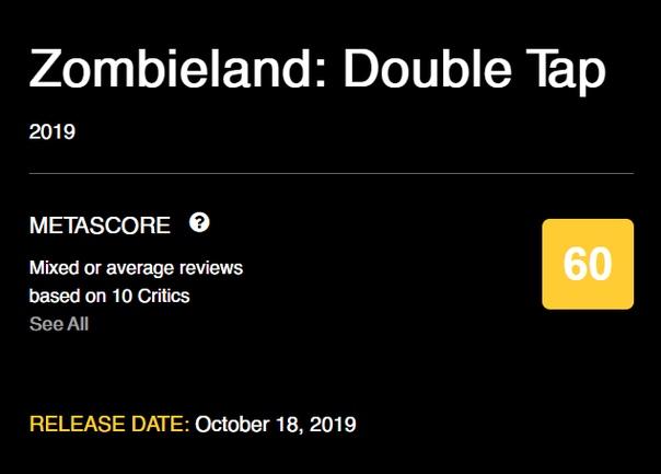 Первые оценки фильма «Зомбилэнд: Двойной выстрел»
