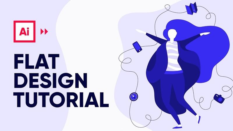 Illustrator Tutorial Travel Flat Illustration Design Process