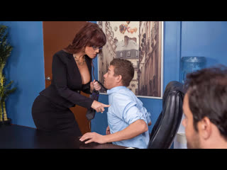 Syren de mer - red hot boss from hell [brazzers. big ass, big tits, milf, redhead, stockings]