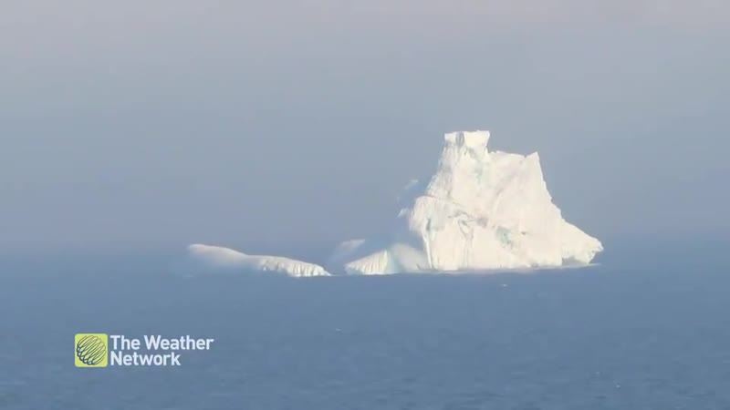 Апрель время для дрейфующих айсбергов в Ньюфаундленде Канада 29 апреля 2019 года