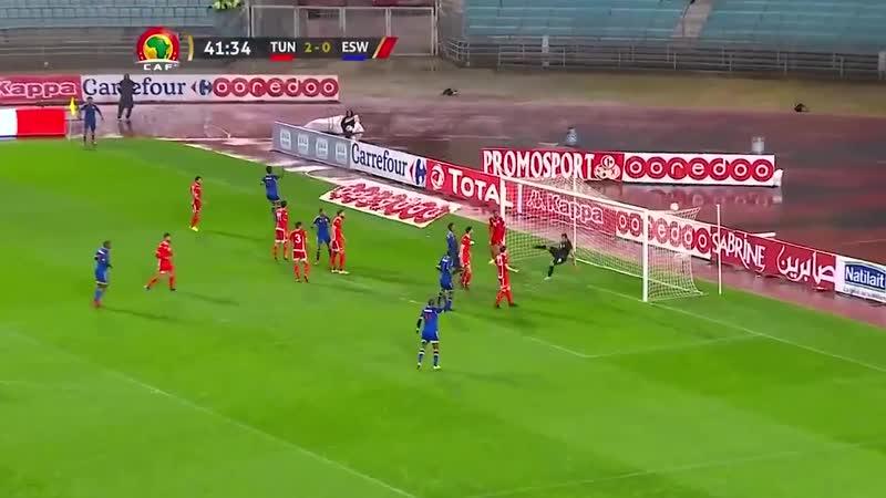 Обзор матча Тунис 4 - 0 Эсватини в рамках отбора на КАН-2019. Гол Наима Слити