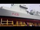 Varato a Muggiano La Spezia il pattugliatore di 132 metri Thaon Di Revel