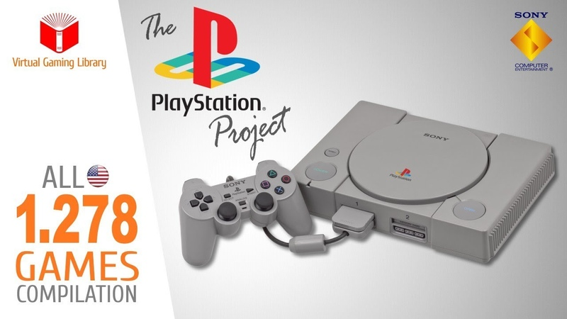 The PlayStation Project All 1278 NTSC U USA PS1 PSX PSOne Games Every Game USA NTSC U