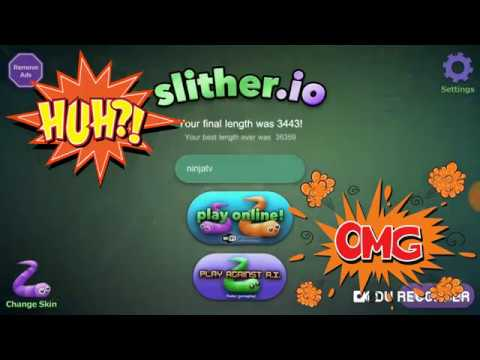 Slither.io 3 Игра про Червяка! полный нуб пытаеться вырастить огромного Червя!