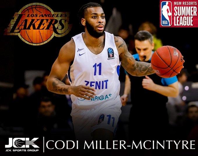 Коди Миллер-Макинтайр включен в состав «Лейкерс» для участия в Летней лиге НБА