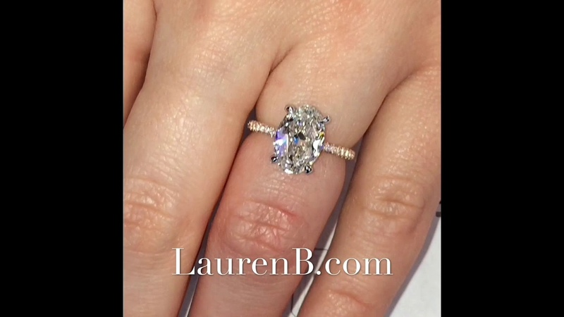 2.3 ct Oval Diamond Two-Tone Engagement Ring Design