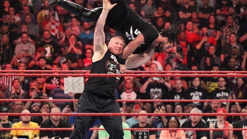 Brock Lesnar Vs seth Rollins WWe Replay 20 April 2019 - WM 2019