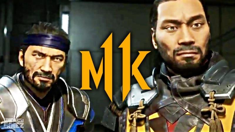 Mortal Kombat 11 - Sub-Zero Scorpion Fighting The Cyber Lin Kuei!! (Story Mode)