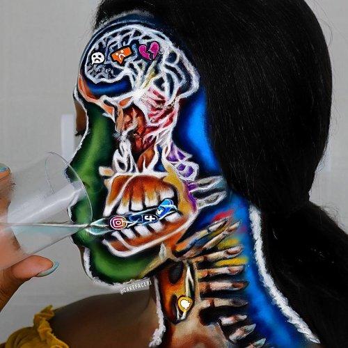 Глазам не верится: визажистка превращает своё лицо в невероятные иллюзии Креативный художник-визажист, которая тратит до 9 часов, преобразуя своё лицо, продолжает демонстрировать свои