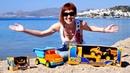 Маша Капуки Кануки и машинки на пляже Большая распаковка Песочница для малышей развивающие игры