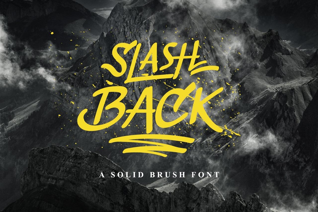 Шрифт - Slash Back