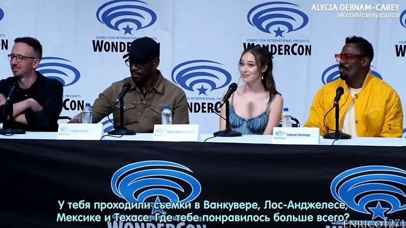 Каст «Бойтесь ходячих мертвецов» | Конвенция «WonderCon 2019» | 31.03.2019 (Русские субтитры)