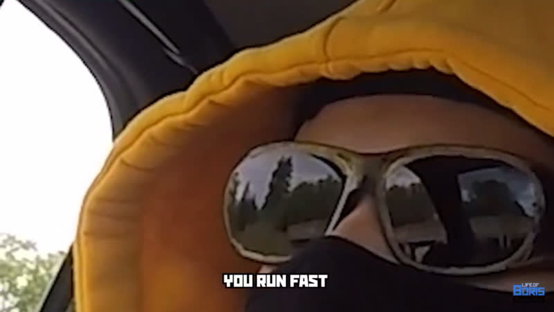 You run. You run fast.