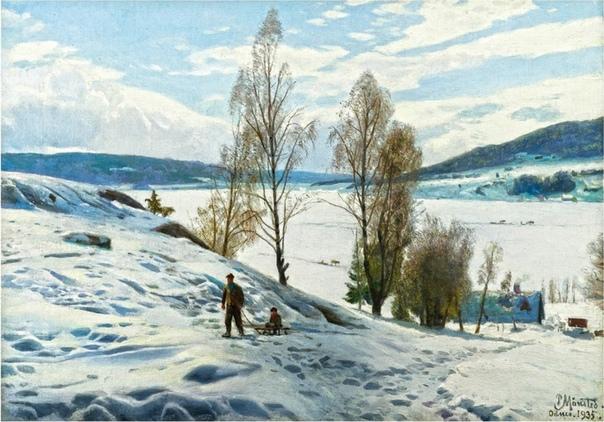 ПЕТЕР МЁРК МЁНСТЕД - МАСТЕР ПЕЙЗАЖА Менстед Петер Мерк (10 декабря 1859 20 июня 1941) известный датский художник-пейзажист, признанный мастер реалистичного пейзажа, представитель золотого века