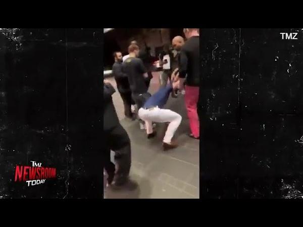 Конор Макгрегор разбивает телефон фаната ногой