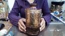 Pote de garrafa pet 2 técnica de latonagem artesanato e decoração