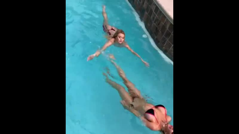 Nicolette Shea swimming in Pool