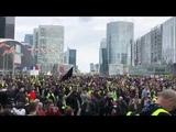 Желтые жилеты на площади обороны скандируют Революция! Революция!