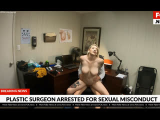 Bfakenews hadley haze gets fucked during a consultation at the plastic surgeons office bang fake news hospital doctor boobs