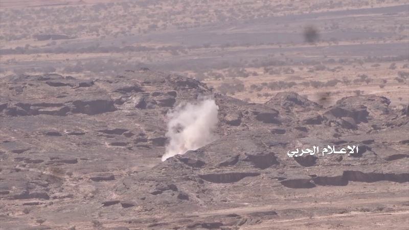 نجران اطلاق صاروخين نوع زلزال1 على تجمعات ا