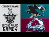 San Jose Sharks vs Colorado Avalanche R2, Gm4 may 2, 2019 HIGHLIGHTS HD