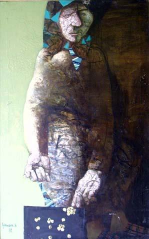 Гуданаев Борис Долматович Родился в 1951г. в с. Головачевка (Казахтан). Окончил в 1983 г. художественный институт им.Репина (Ленинград), творческую мастерскую монументальной живописи РАХ