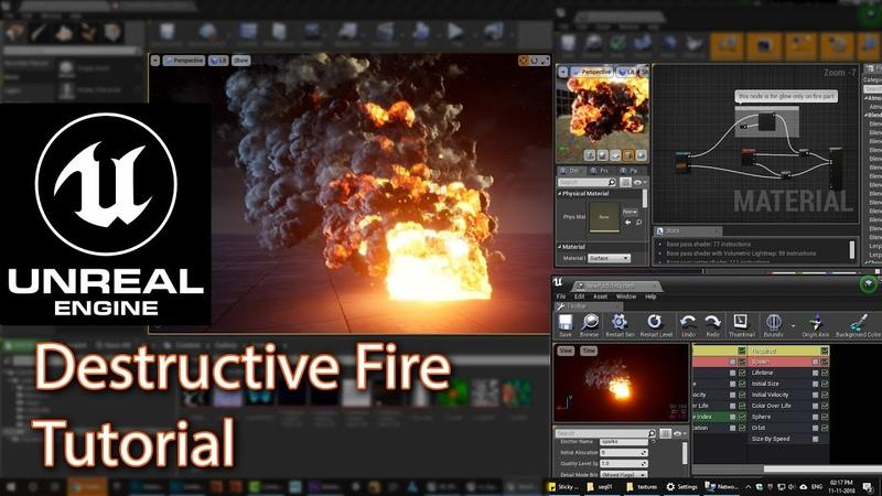 Unreal Engine Destructive Fire Tutorial