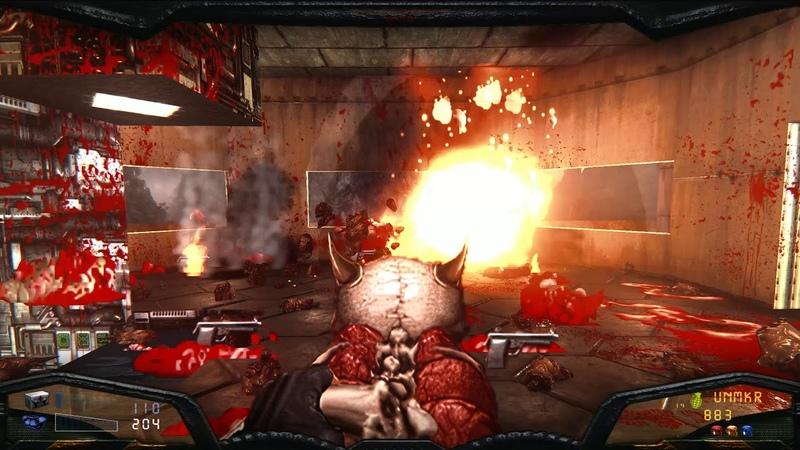 Brutal Doom v21 4x Neural upscaled weapons PBR test