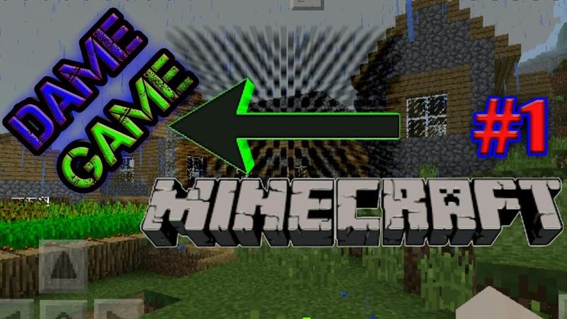 1 Minecraft PE! Dame Game мен бірге бір ауылда!