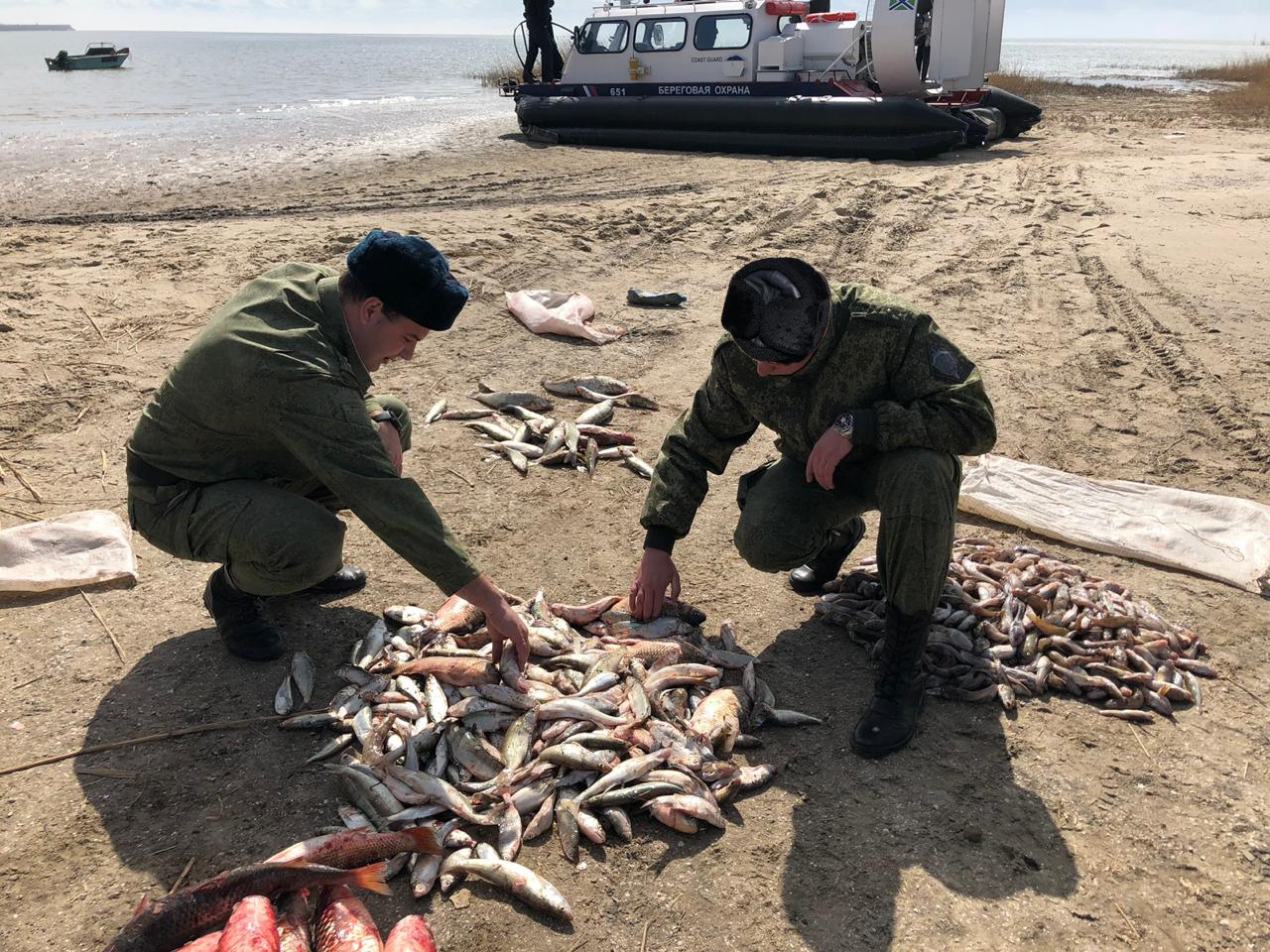 Недалеко от Таганрога сотрудники погрануправления ФСБ задержали браконьеров
