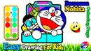 Doraemon Nobita Coloring | Fun Painting For Toddlers And Drawing For Kids