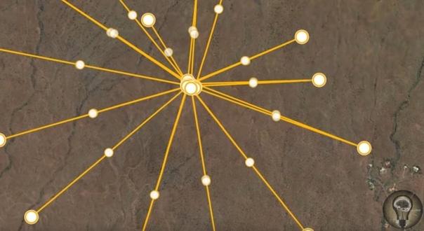 Древнейшая звездная карта на Гавайях Не так давно исследователи сообщили о находке огромного геоглифа в районе давно потухшего вулкана Кохала на Гавайях (Большой остров). В сервисе Google Earth