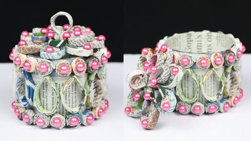 How to make a basket with plastic bottle and newspaper   Best out of Waste
