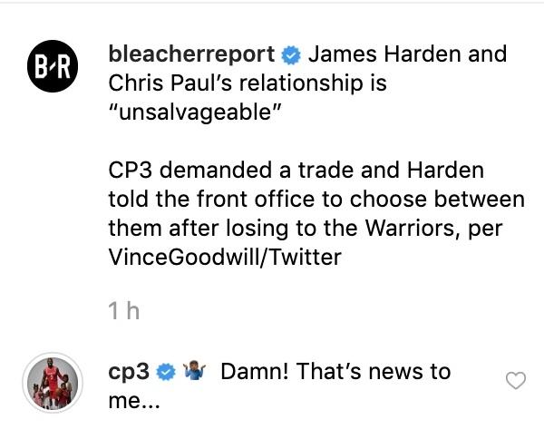 Крис Пол опроверг слухи о том, что он попросил «Хьюстон» обменять его