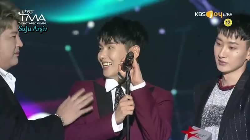 190424 TFMA FanNStar Choice Award - Ryeowook ve Shindongun Ödül Konuşması (Türkçe Altyazılı)