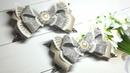 Бантик из кожи по самодельному шаблону, мк/Bow made of leather on a homemade pattern