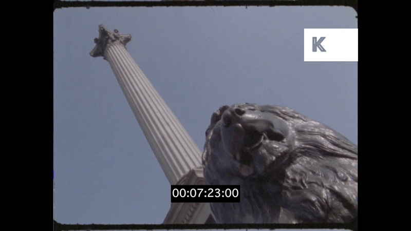 1990s Trafalgar Square, London, HD from 16mm