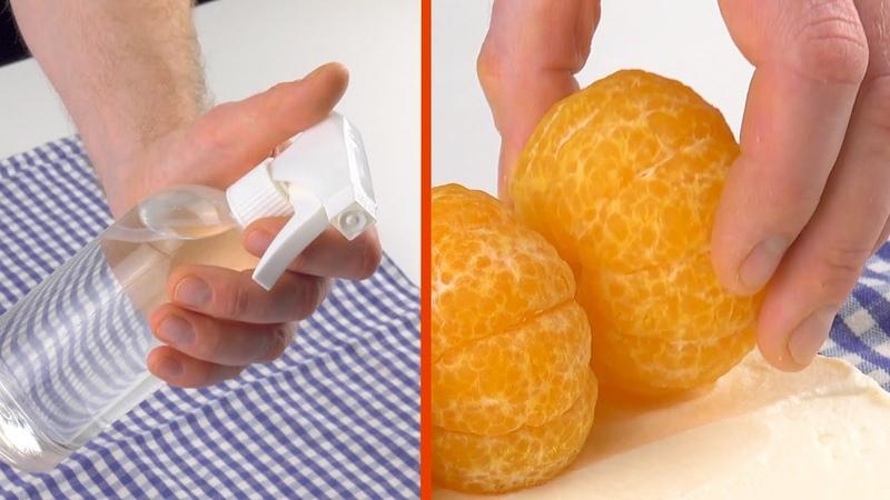 Намочим полотенце и заворачиваем в него фрукты. Какой роскошный десерт!