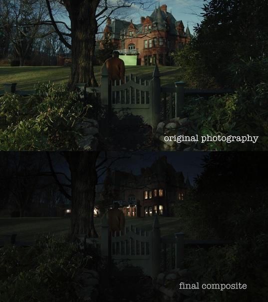 Как это выглядело на съёмочной площадке «Достать ножи» / как это выглядит в итоговом варианте фильма