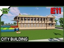 Minecraft Building a City 11 - City Hall, Library and TV Station!