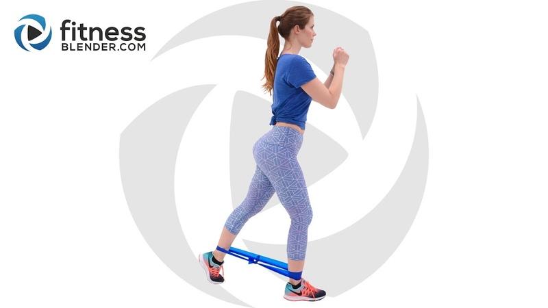 FitnessBlender Glute Activation Workout with Bands Knee Friendly Низкоударная тренировка для ягодиц с фитнес резинкой